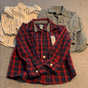 Set of 3 toddler size 4 button down shirts